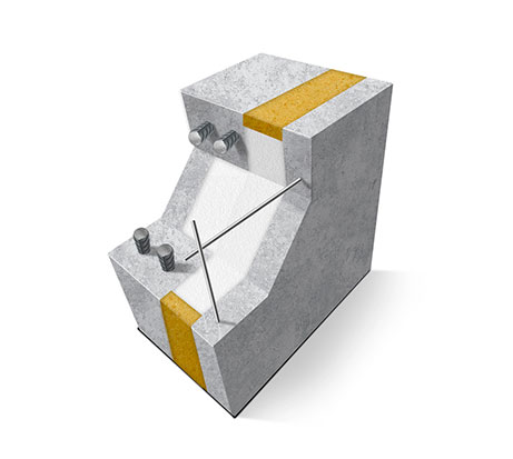 Схема трехслойной железобетонной ребристой утепленной панели.