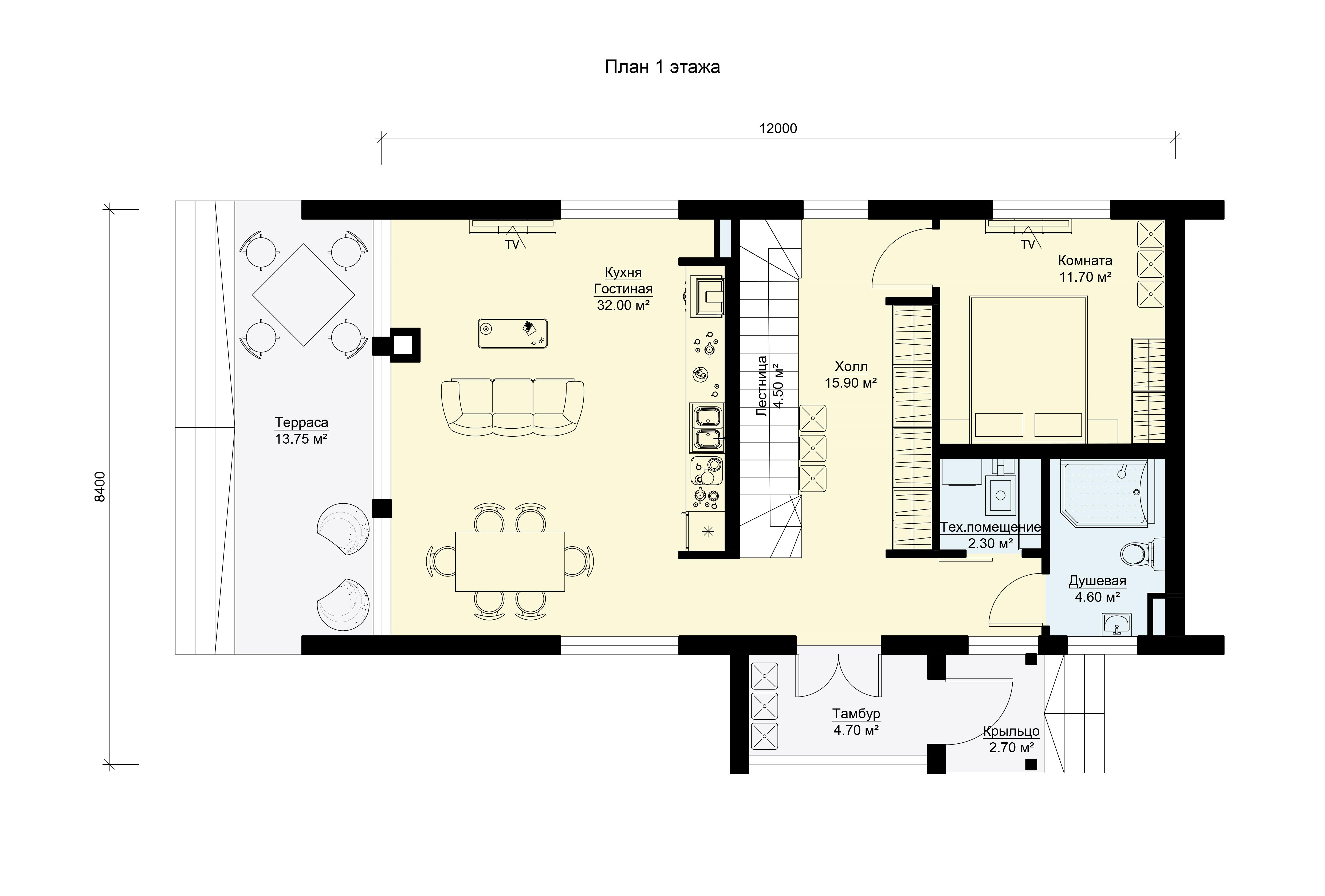 План первого этажа.