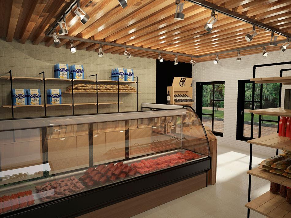 Интерьер одного из магазинов, построенных БЭНПАН.