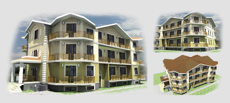 Малоэтажный дом. Проект МС-1192