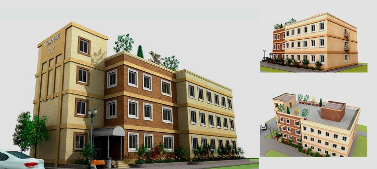 Малоэтажный дом. Проект МС-1433