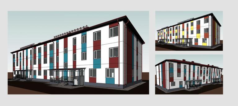 Малоэтажный дом. Проект МС-1488
