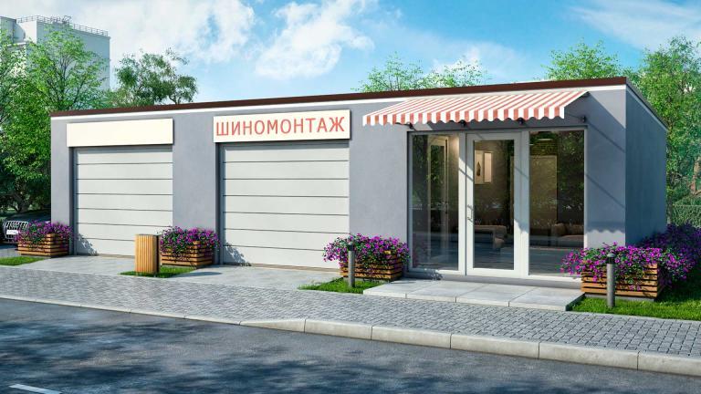 Проект гаража БЭНПАН Шиномонтаж 3С