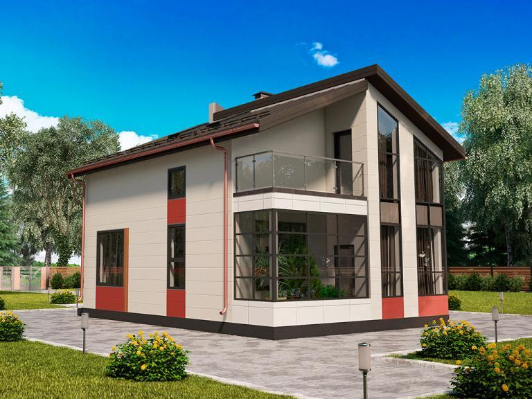Строительство дома по проекту МС-112, панели БЭНПАН+
