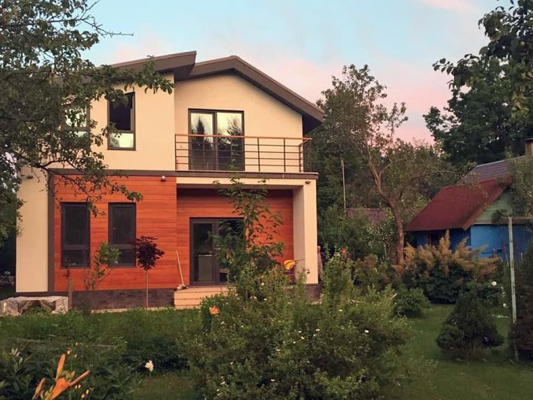 Фотографии готовых домов. МС-146В, панели БЭНПАН