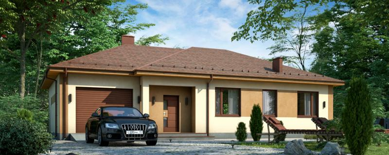 МС-162-2 просторный одноэтажный дом