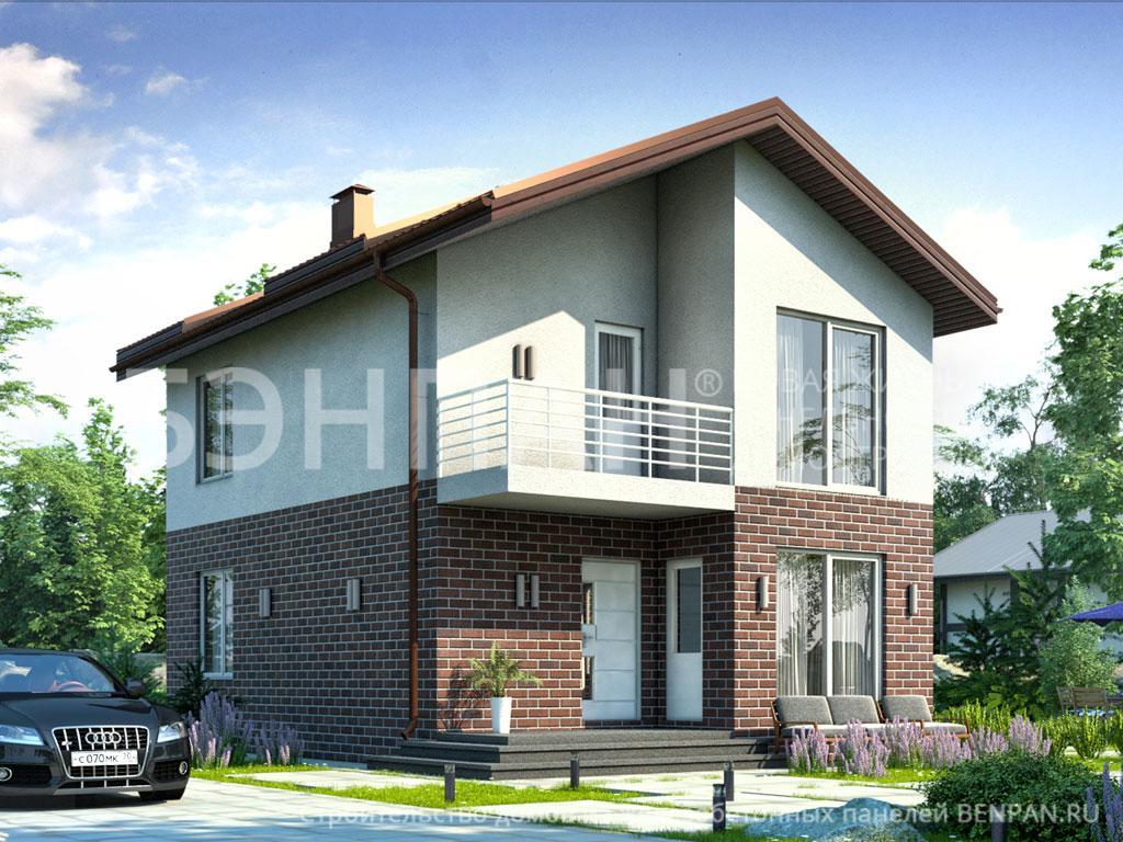 Строительство дома 89.00 м2 по цене от 2216897.55 рублей на март 2019 года