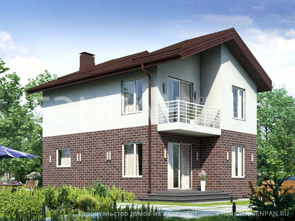 Фото дома БП-107 89.00м2, этажа 2, комнаты 5, проект для загородного дома
