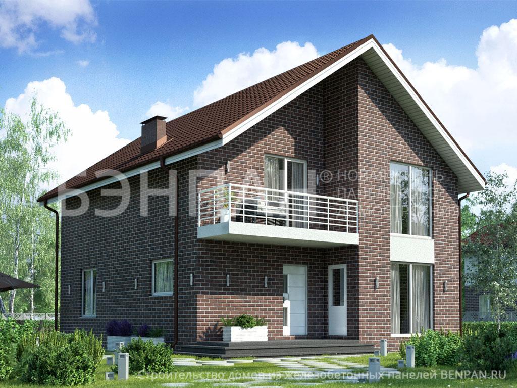 Фото дома БП-161 138.70м2, этажа 2, комнаты 5, проект для загородного дома