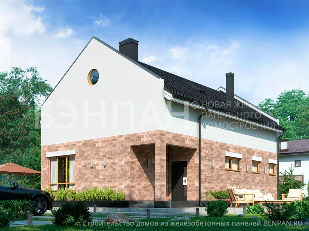 Строительство дома 155.40 м2 по цене от 2703008.07 рублей на июль 2019 года
