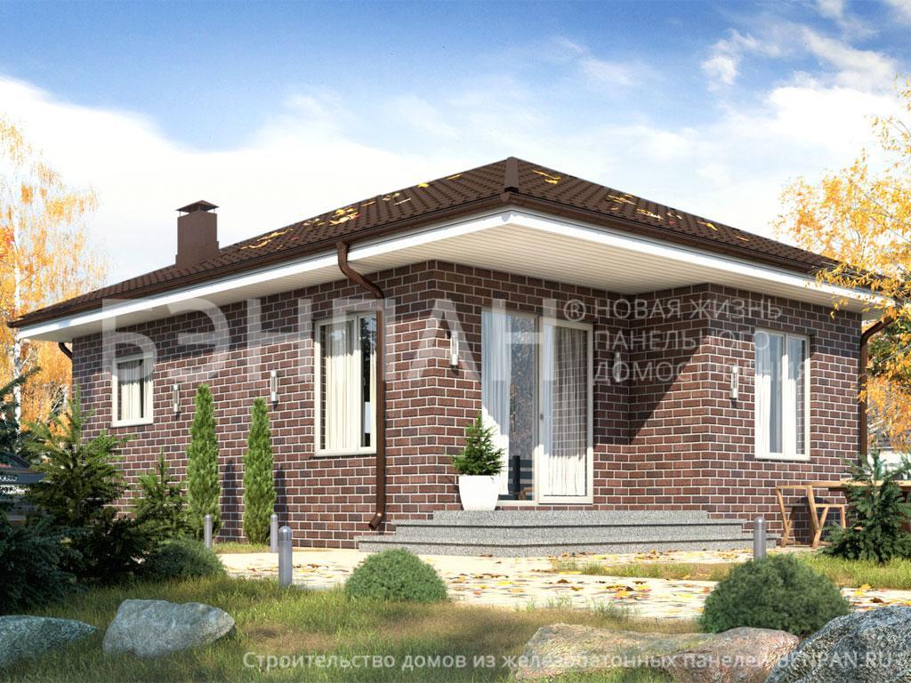 Фото дома БП-54 44.90м2, этажа 1, комнаты 2, проект для загородного дома
