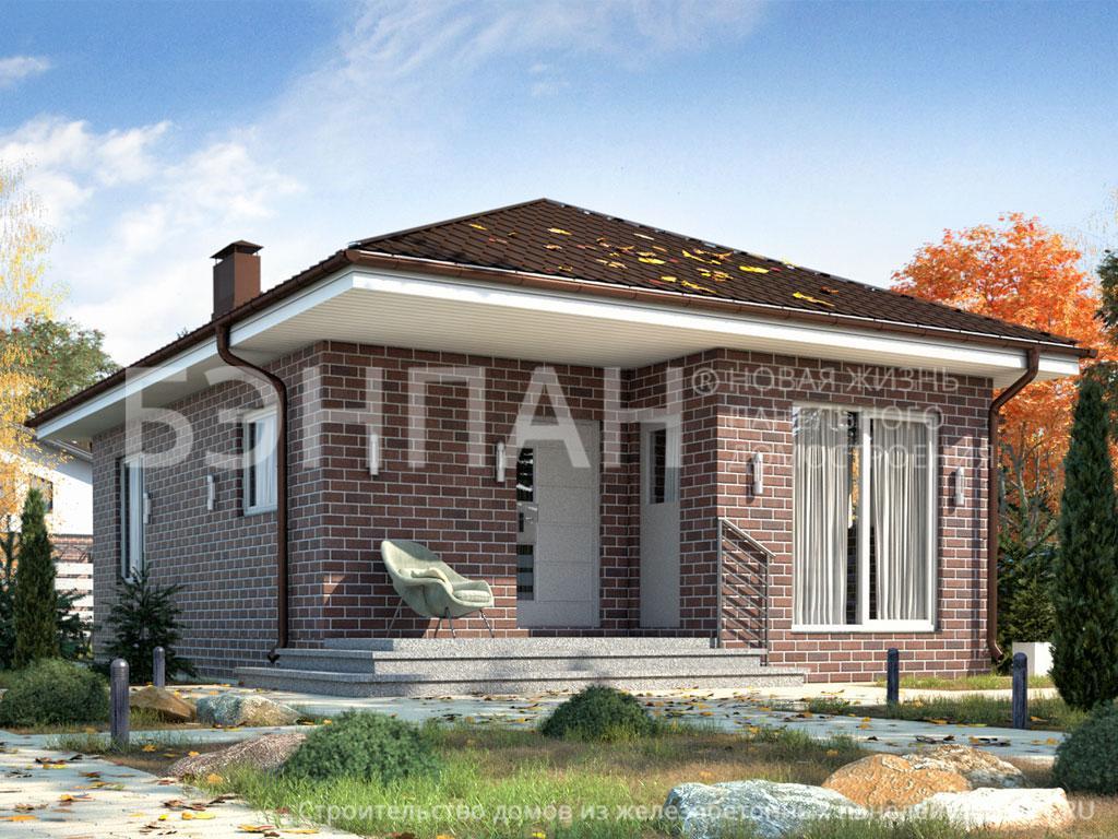 Строительство дома 44.90 м2 по цене от 1408005.731 рублей на январь 2019 года