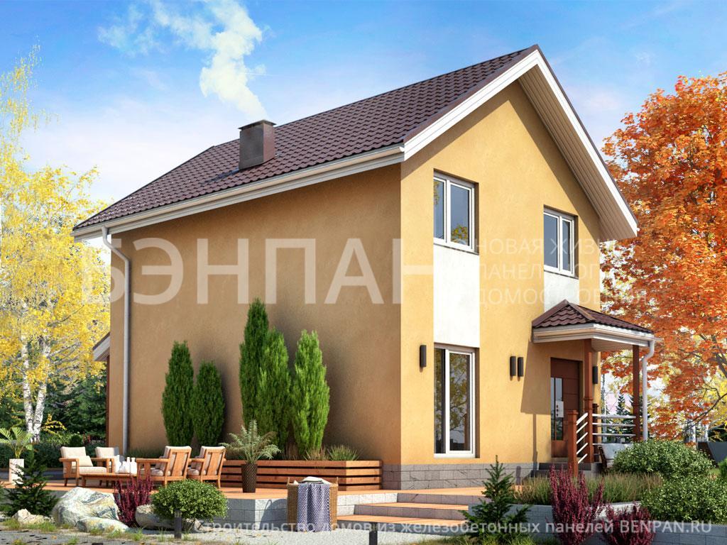 Строительство дома 92.90 м2 по цене от 1631112.39 рублей на июнь 2019 года