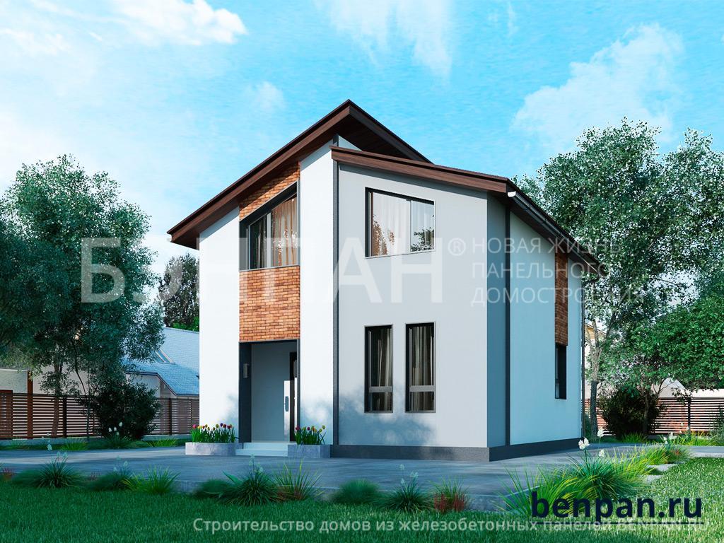 Строительство дома 81.60 м2 по цене от 1990655.99 рублей на июнь 2019 года