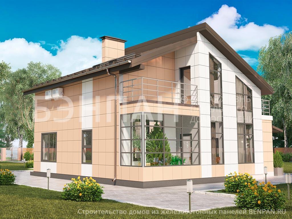 Строительство дома 159.65 м2 по цене от 3629274.9 рублей на июль 2019 года
