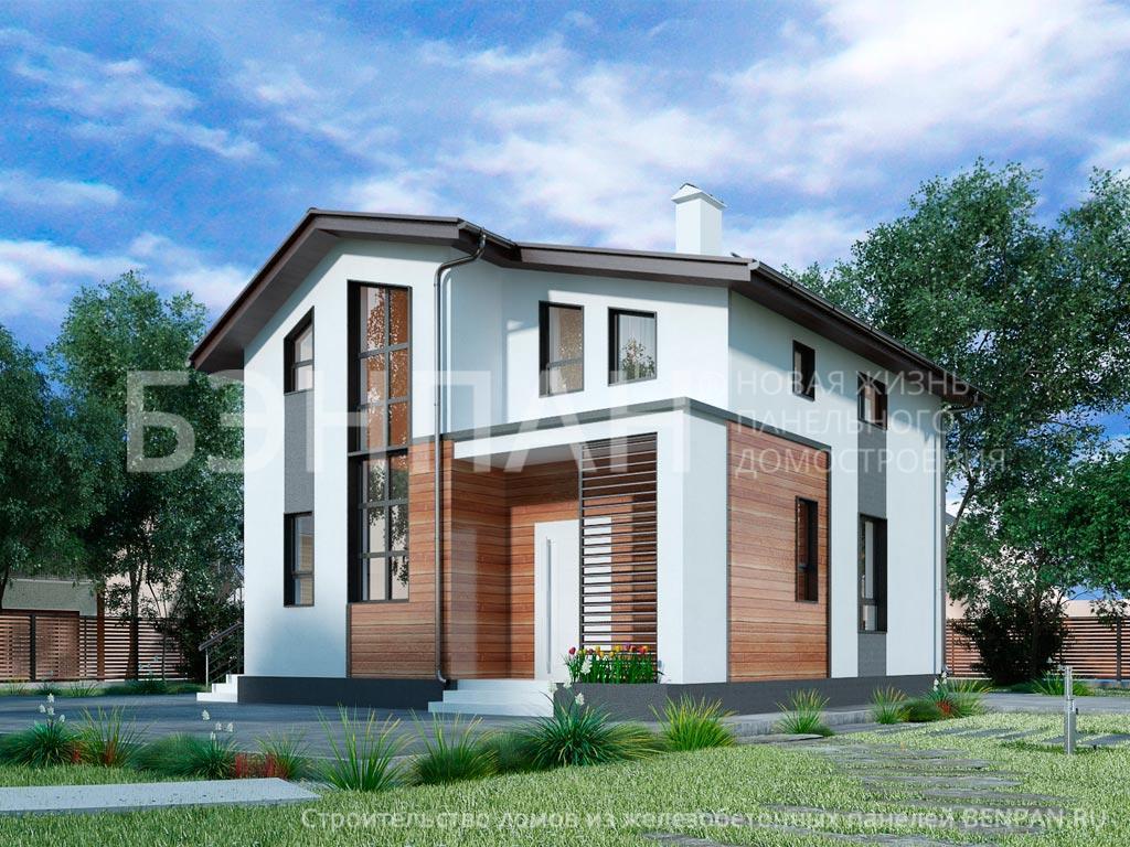 Строительство дома 98.10 м2 по цене от 2187892.28 рублей на апрель 2019 года