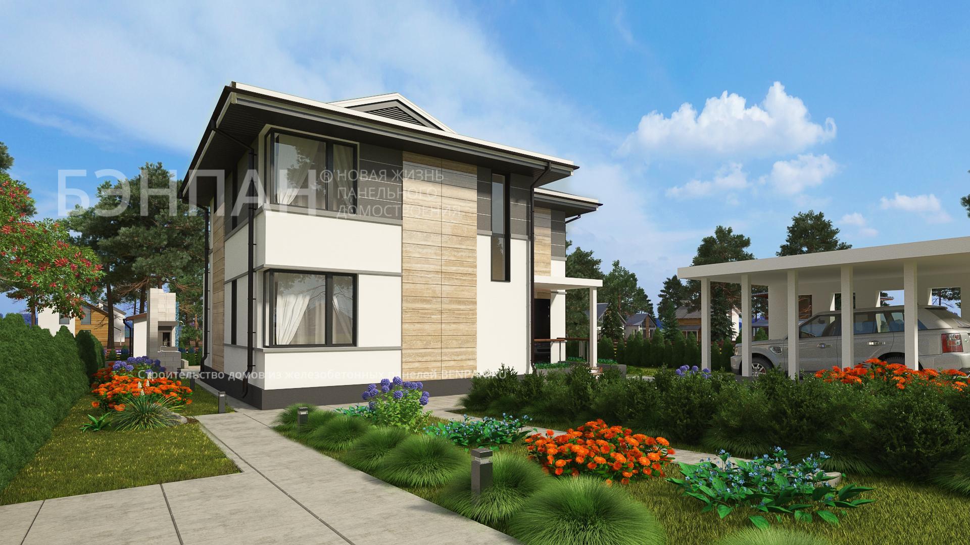 Строительство дома 117.00 м2 по цене от 2465321.6 рублей на март 2019 года