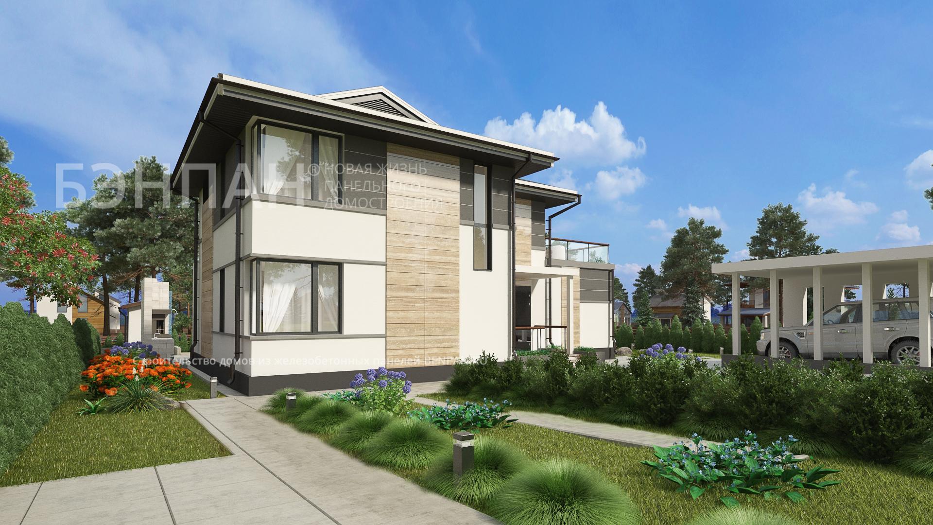 Фото дома МС-224 136.40м2, этажа 2, комнаты 6, проект для загородного дома