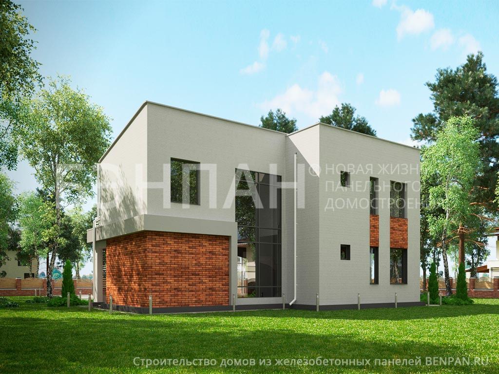 Фото дом с эксплуатируемой крышей 158.80м2, этажа 2, комнаты 5, проект для загородного дома