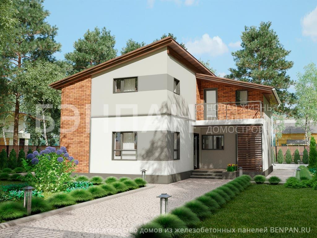 Строительство дома 159.90 м2 по цене от 3311606.05 рублей на август 2019 года