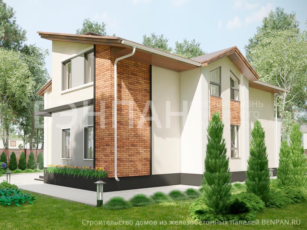 Фото дома МС-253 189.97м2, этажа 2, комнаты 6, проект для загородного дома