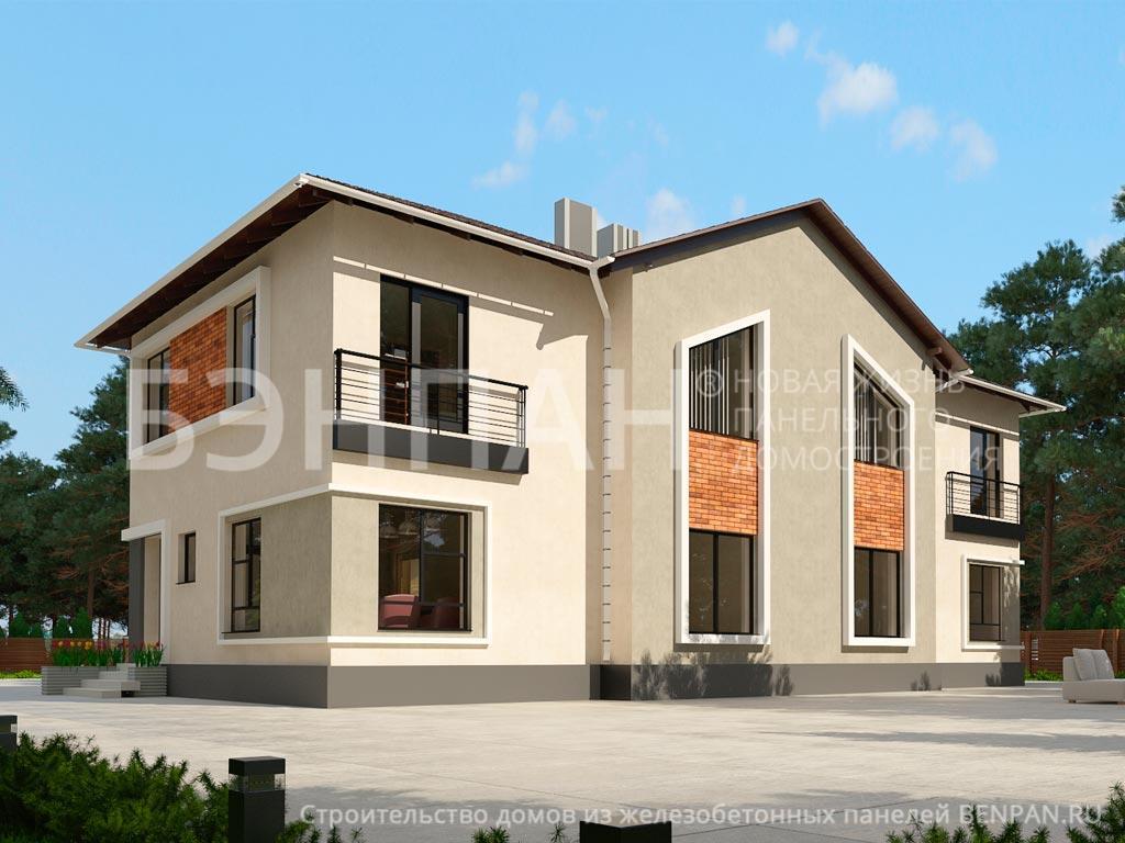 Фото дома МС-472 (дом на 3 семьи) 362.10м2, этажа 2, комнаты 12, проект для загородного дома