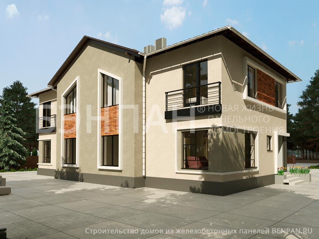Фото коттеджа МС-472 (дом на 3 семьи) 362.10м2, проект для коттеджа