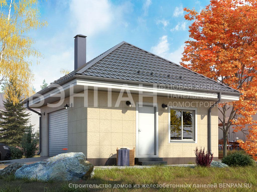 Фото дома Гараж 37.00м2, этажа 1, комнаты 0, проект для загородного дома