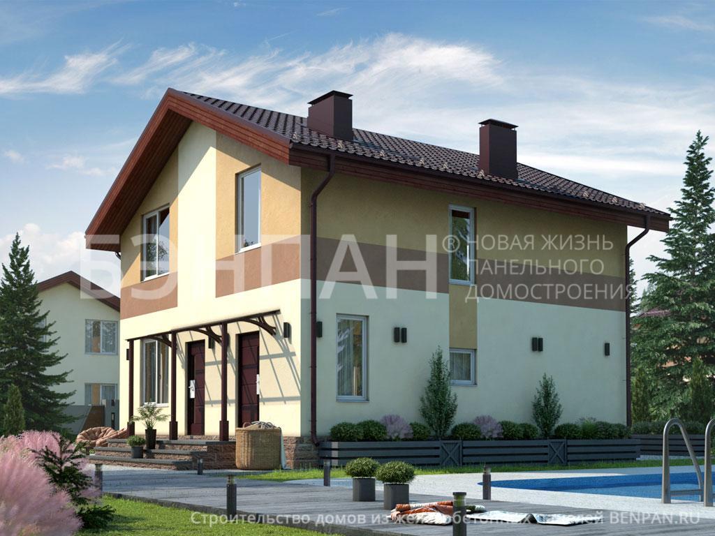 Строительство дома 128.70 м2 по цене от 2236265.5 рублей на июнь 2019 года