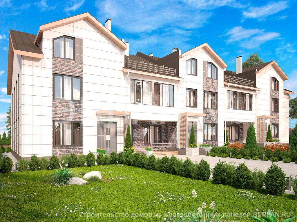 Фото дом с мансардой 1110.00м2, этажа 3, комнаты 35, проект для загородного дома