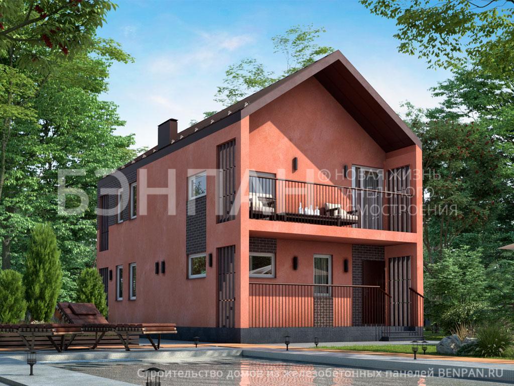 Строительство дома 104.60 м2 по цене от 2022724.83 рублей на февраль 2019 года