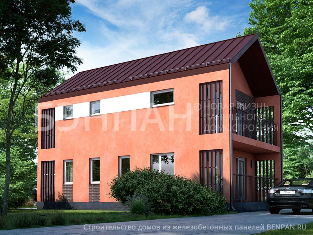 Фото дома МС-144 104.60м2, этажа 2, комнаты 5, проект для загородного дома