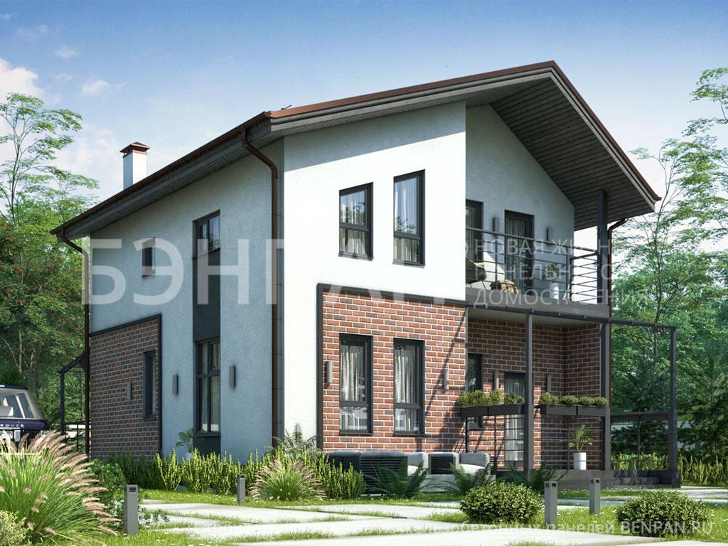 Строительство дома 111.62 м2 по цене от 2413578.37 рублей на июнь 2019 года