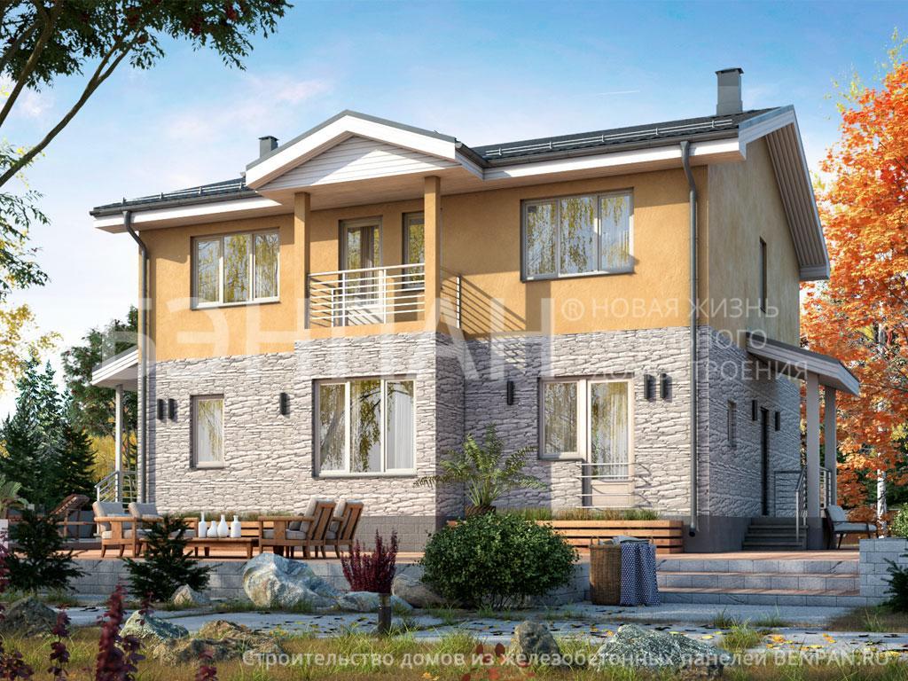 Строительство дома 185.10 м2 по цене от 3337771.668 рублей на январь 2019 года