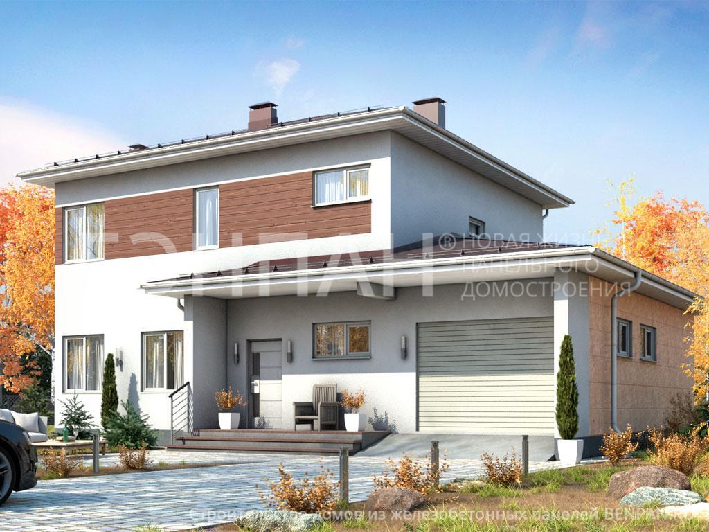 Фото дома МС-189 173.90м2, этажа 2, комнаты 6, проект для загородного дома