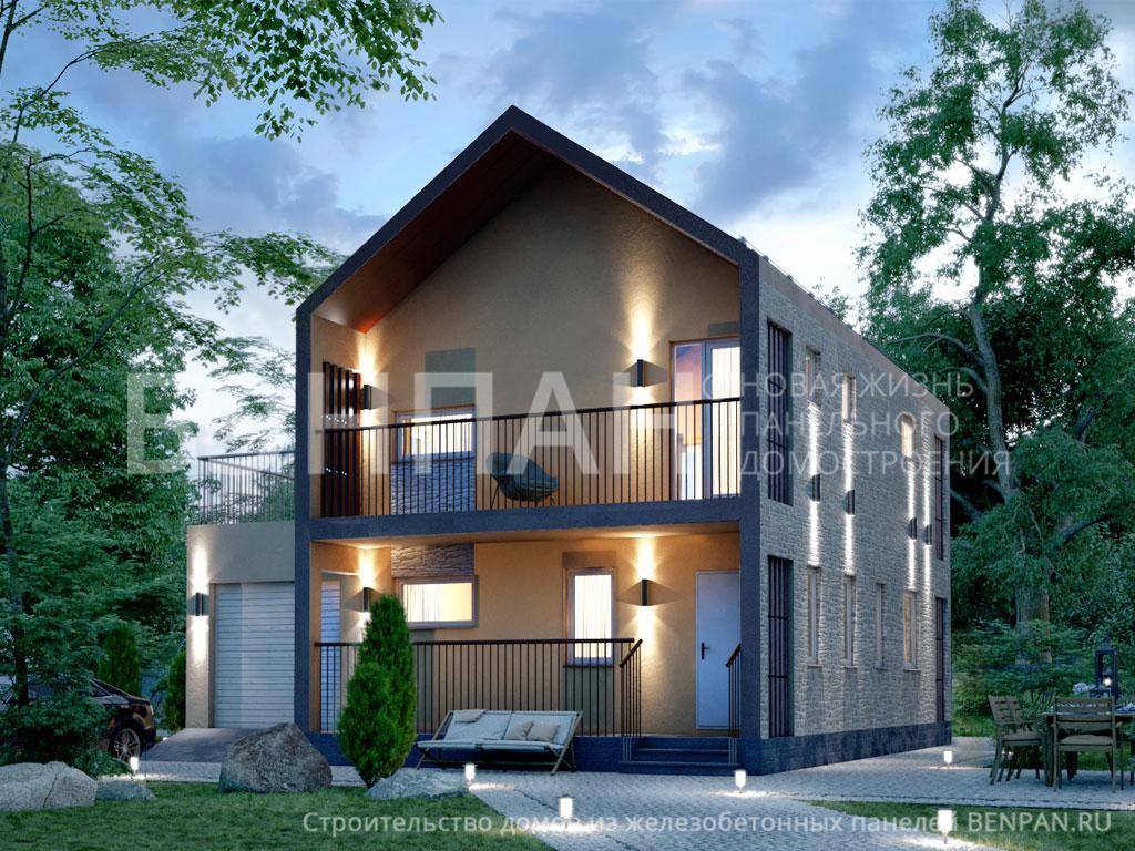 Строительство дома 130.50 м2 по цене от 2422186.75 рублей на март 2019 года