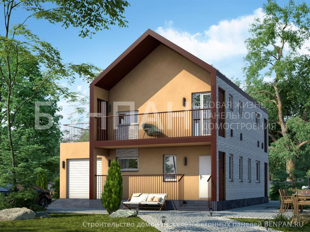 Фото дома МС-195 130.50м2, этажа 2, комнаты 4, проект для загородного дома