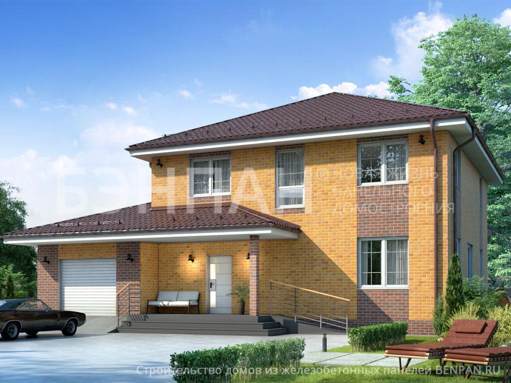 Фото дома МС-240/4 237.60м2, этажа 2, комнаты 7, проект для загородного дома