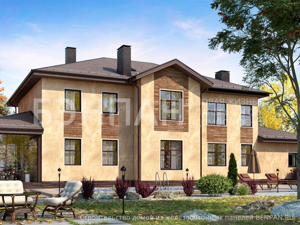 Фото дом с эркером 468.20м2, этажа 2, комнаты 6, проект для загородного дома