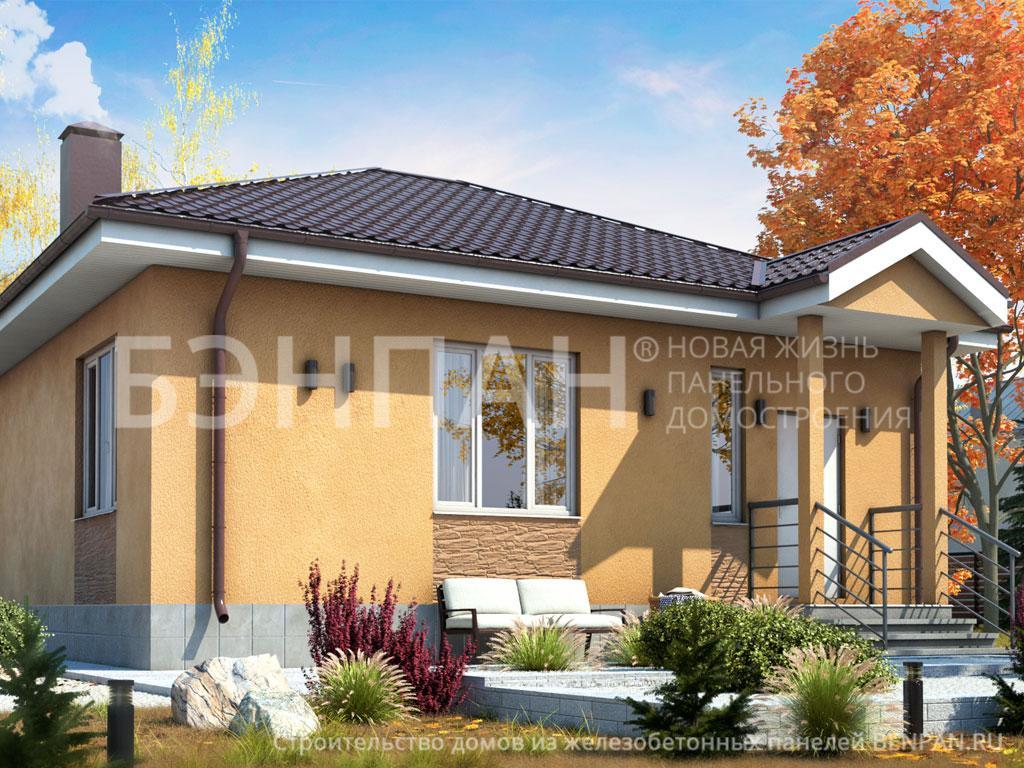 Строительство дома 61.90 м2 по цене от 1360230.674 рублей на январь 2019 года