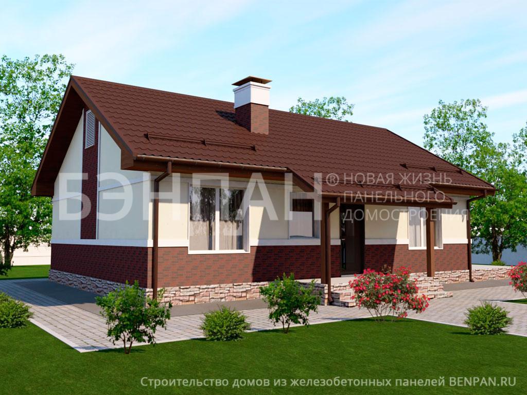 Строительство дома 79.70 м2 по цене от 1571166.79 рублей на июнь 2019 года