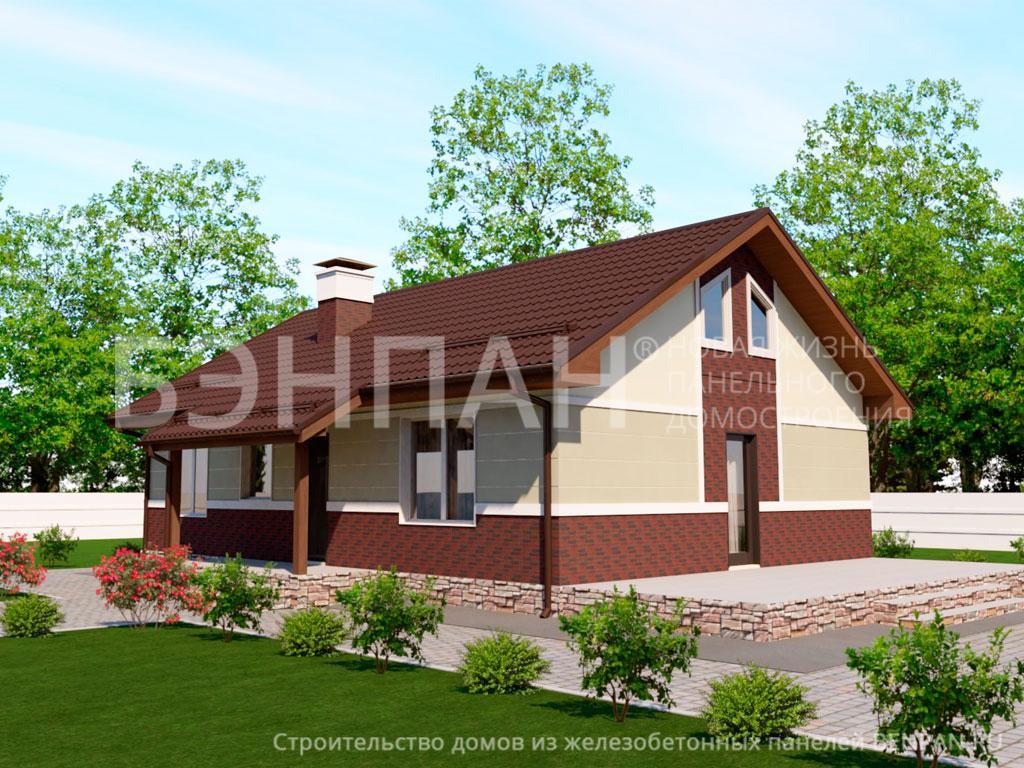 Фото дома МС-77 79.70м2, этажа 1, комнаты 4, проект для загородного дома