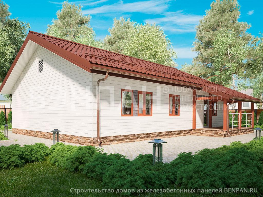 Строительство дома 101.55 м2 по цене от 1844152.79 рублей на июль 2019 года
