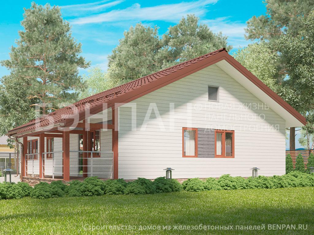 Фото дома МС-101 101.55м2, этажа 1, комнаты 4, проект для загородного дома