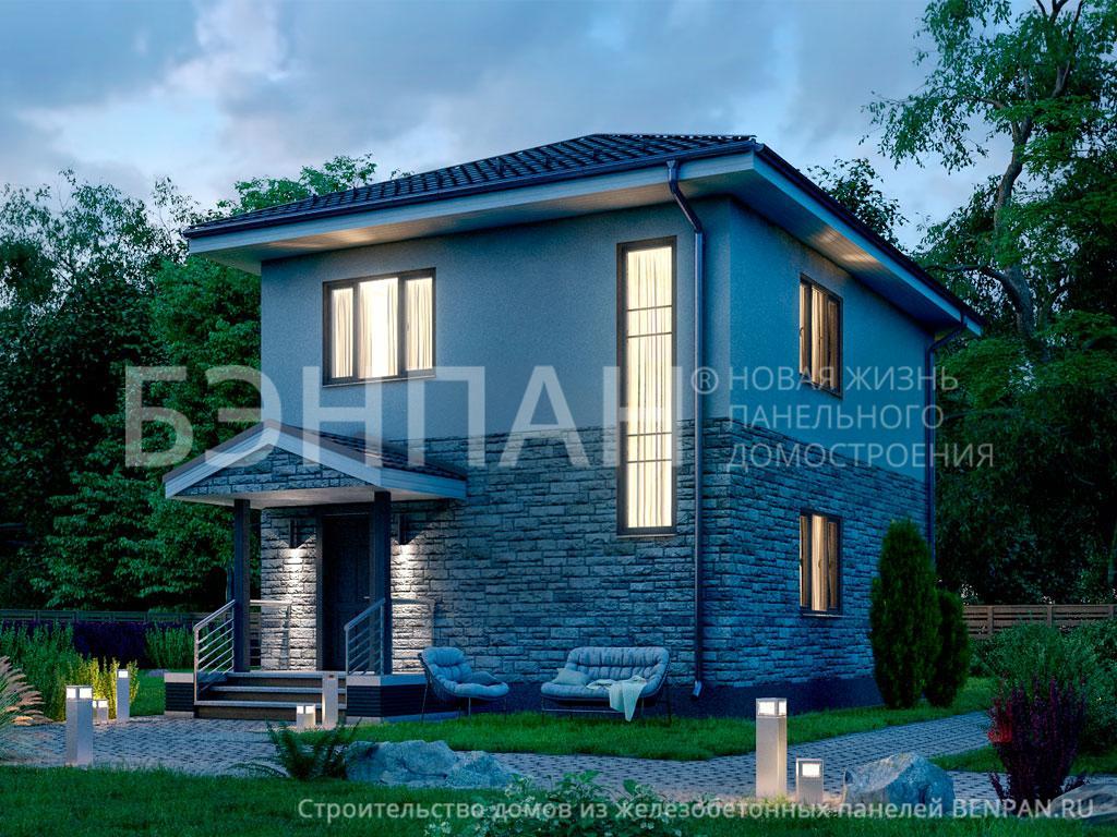 Строительство дома 106.00 м2 по цене от 1722292.5 рублей на июнь 2019 года