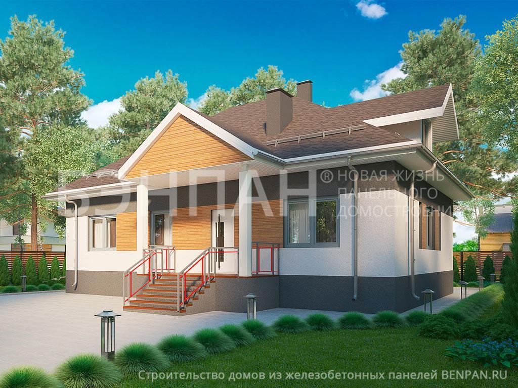 Фото дома МС-120 114.90м2, этажа 1, комнаты 4, проект для загородного дома