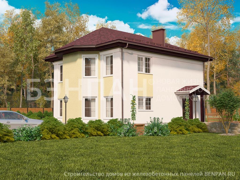 Фото дома МС-143 156.90м2, этажа 2, комнаты 6, проект для загородного дома