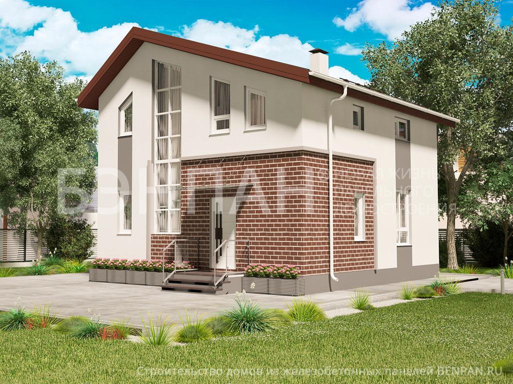 Строительство дома 104.00 м2 по цене от 2159391.99 рублей на февраль 2019 года