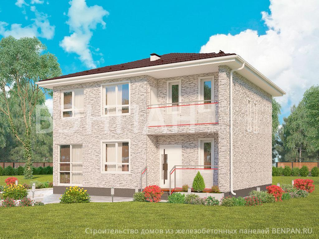 Фото дома МС-160 140.10м2, этажа 2, комнаты 5, проект для загородного дома
