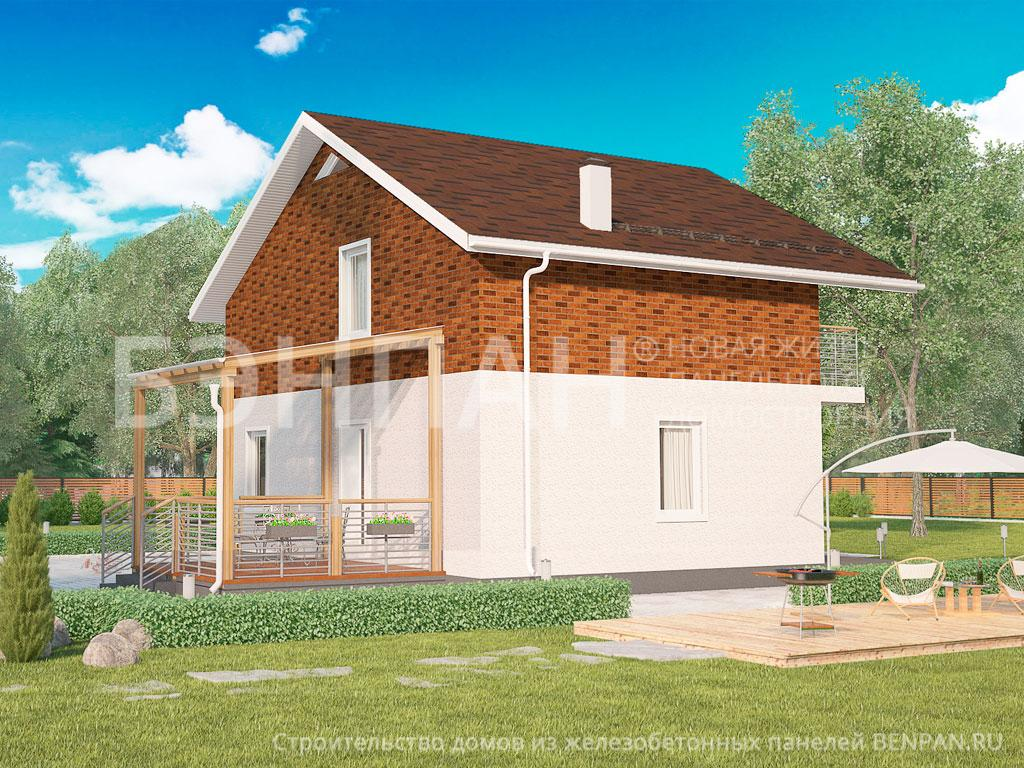 Фото дома МС-164/1/К 138.50м2, этажа 2, комнаты 4, проект для загородного дома